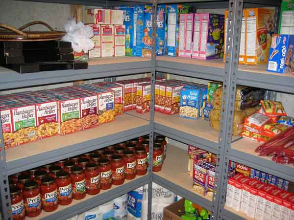 Grocery stockpile for disaster preparedness checklist