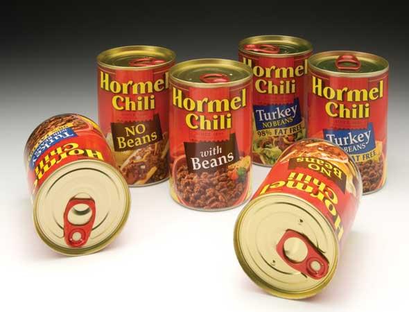 Canned Chili for 3 day disaster preparedness checklist
